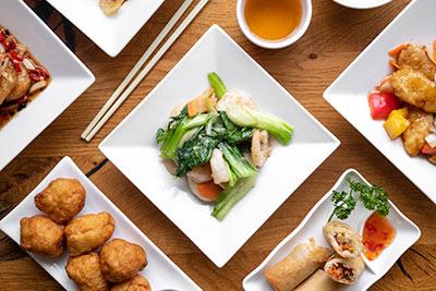 Prawns with Pak Choy at Kew Gardens Oriental Cuisine