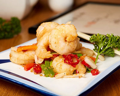 Salt & spicy prawns from Kew Gardens Oriental Cuisine